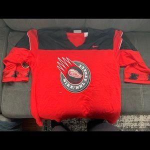 Men's xl Nike Red Wings Street hockey Jersey